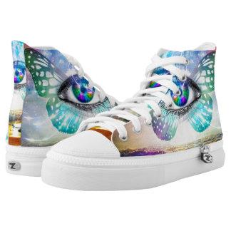 Zapatos del top del alto de Zipz de la mente del Zapatillas