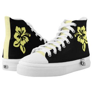 Zapatos del top del alto del flower power ZIPZ Zapatillas
