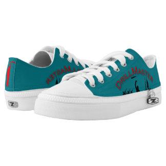 Zapatos del top del punto bajo del logotipo del zapatillas