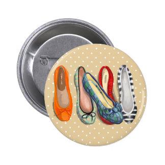Zapatos - deslizadores minúsculos pin redondo de 2 pulgadas