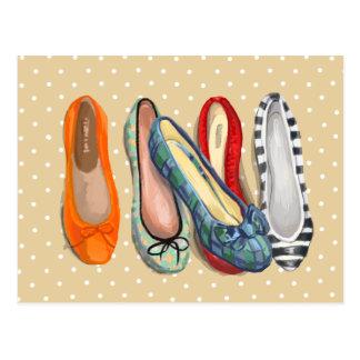 Zapatos - deslizadores minúsculos tarjeta postal