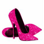 Zapatos elegantes del tacón alto del brillo de las escultura fotografica