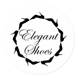 """Zapatos elegantes invitación 5.25"""" x 5.25"""""""