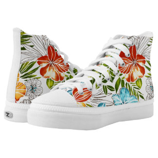 Zapatos florales, mujeres de los E.E.U.U. 8,5 Zapatillas