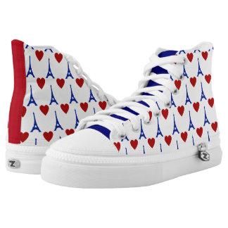 Zapatos impresos superiores de J'aime París hola Zapatillas