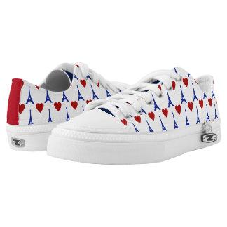 Zapatos impresos superiores de Lo de la bandera de Zapatillas
