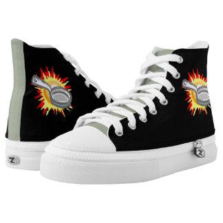 Zapatos impresos tops del sartén de Gurl del Zapatillas