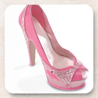 zapatos legalmente rosados posavasos