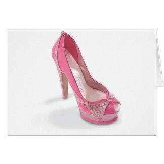 zapatos legalmente rosados tarjeta de felicitación