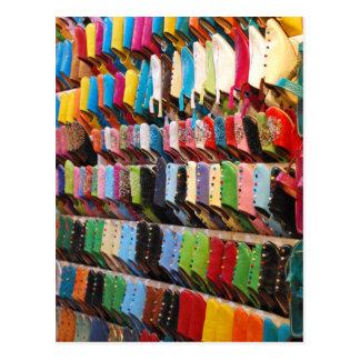 Zapatos marroquíes tarjetas postales