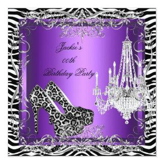 Zapatos púrpuras del fiesta del estampado leopardo comunicado personal