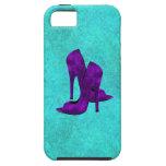 Zapatos púrpuras del tacón alto iPhone 5 Case-Mate carcasa