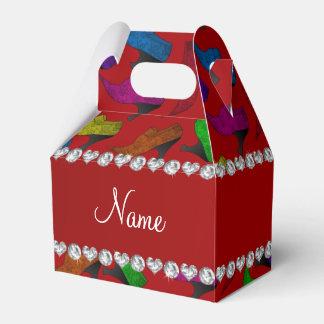 Zapatos rojos conocidos personalizados del vintage caja para regalos