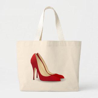 zapatos rojos del tacón alto bolsa