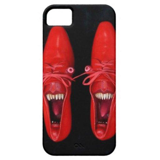Zapatos rojos locos insanos con el caso del iPhone iPhone 5 Carcasa