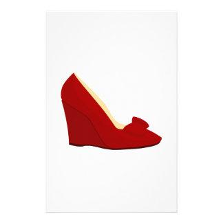 Zapatos rojos papeleria de diseño