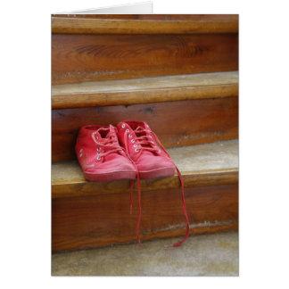 Zapatos rojos felicitación