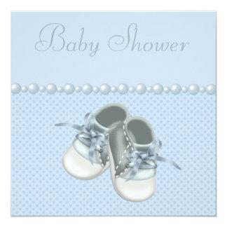 """Zapatos, ropa, perlas y corazones de la ducha del invitación 5.25"""" x 5.25"""""""
