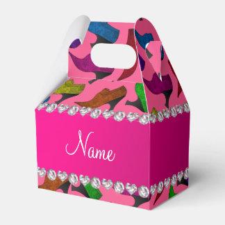Zapatos rosados conocidos personalizados del cajas para regalos