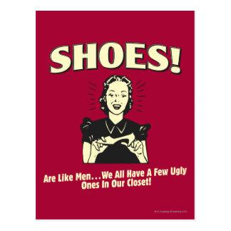 Zapatos: Sea como hombres Postales