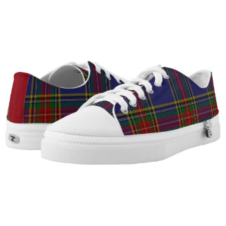 Zapatos tenis de la tela escocesa de tartán de zapatillas
