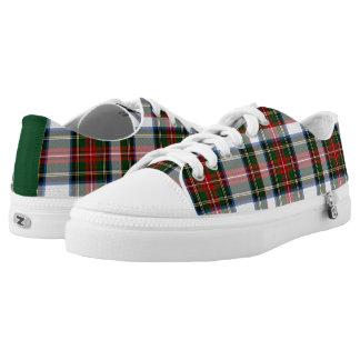 Zapatos tenis de la tela escocesa de tartán del zapatillas