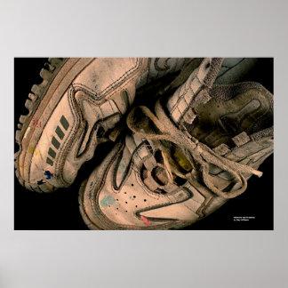 Zapatos tenis del pintor impresiones