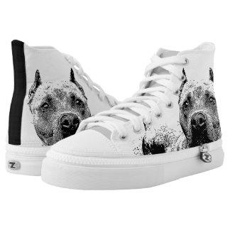 Zapatos tenis del top del alto del perro de zapatillas