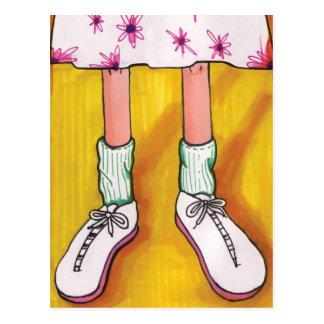 Zapatos tenis tarjetas postales