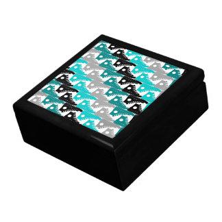 Zapatos Trullo-n-Negros de los altos tops Joyero Cuadrado Grande