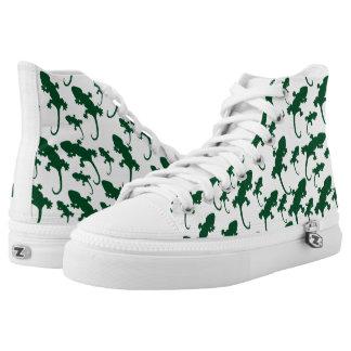 Zapatos verdes del top del alto de los Geckos Zapatillas