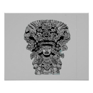 Zapotec God Of Maize Poster