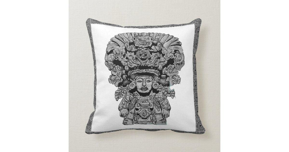 Zapotec Throw Pillows : Zapotec God Of Maize Throw Pillow Zazzle