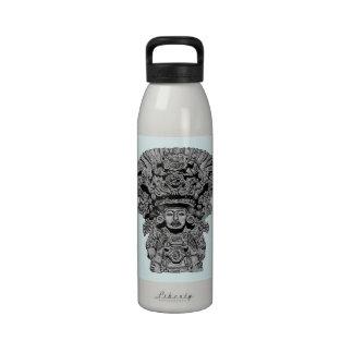 Zapotec God Of Maize Reusable Water Bottles