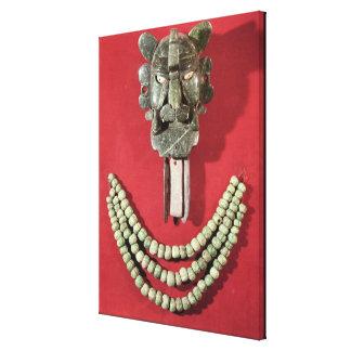 Zapotec pectoral the form of  mask representing canvas print