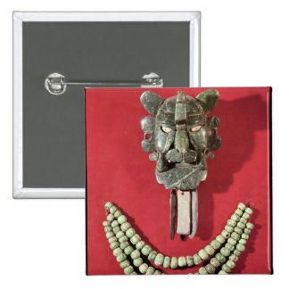 Zapotec pectoral the form of  mask representing pinback button