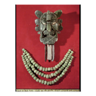 Zapotec pectoral the form of  mask representing poster