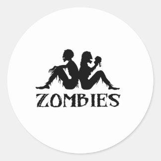 Zappa Zombies Round Stickers