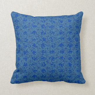 Zappy Blue Throw Pillows