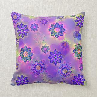 zappy mandala throw pillow