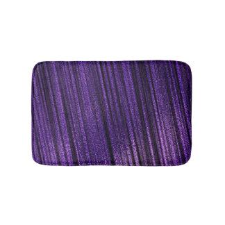 Zappy Purple and Black Stripes Bath Mat