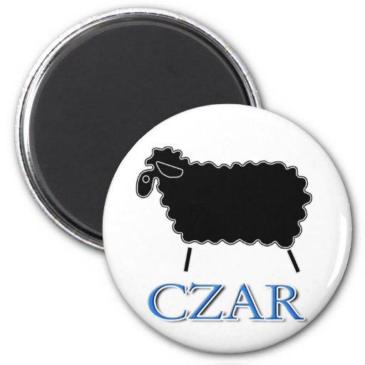 Zar de las ovejas negras imán redondo 5 cm