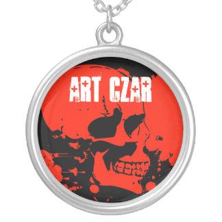 Zar del arte - cráneo rojo #1 - collar