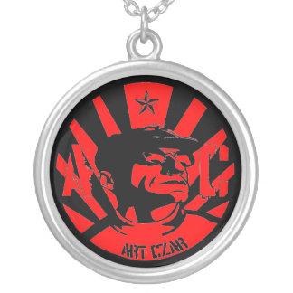 Zar del arte - hombre de Da (rojo) - collar