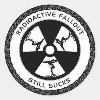 Zar del arte - polvillo radiactivo chupa #1 - pegatina redonda