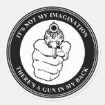 Zar del arte - sello del arma (BW) - pegatina