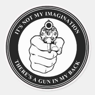 Zar del arte - sello del arma BW - pegatina redo