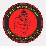 Zar del arte - sello del arma - pegatina redondo
