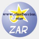 Zar, www.clueberries.com stickers