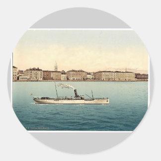 Zara, del mar, Dalmacia, Austro-Hungría rara Pegatina Redonda